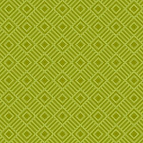 Geometric Square lime Green Tonal small