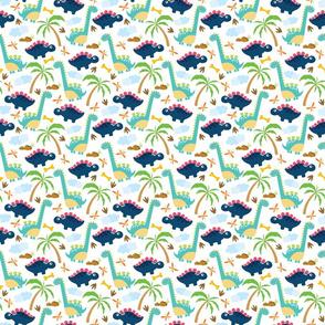 Dinos and palms