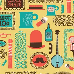 Barber Shop (mustard)