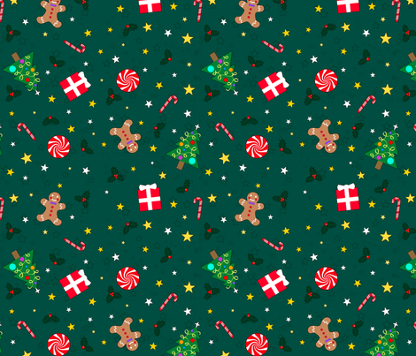 Christmas Holidays fabric by sssowers on Spoonflower - custom fabric