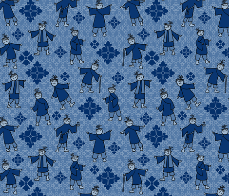 Chinoiserie Redux L fabric by madinpursuit on Spoonflower - custom fabric