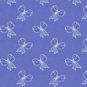 Bows Flip Flop Repeat White on Iris Blue