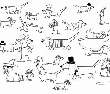 Dogs and more dogs!! fabric by claudine_song on Spoonflower - custom fabric