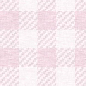 Buffalo Check - cool pink linen