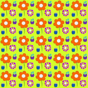 Seventies  Flower Pattern