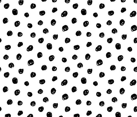 hand drawn inky polka dot pattern fabric by daria_nokso on Spoonflower - custom fabric