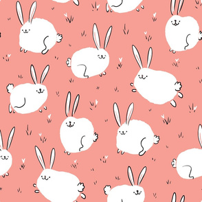 Fluffy cheerful bunnies Large Scale