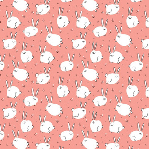 Fluffy cheerful bunnies Small Scale