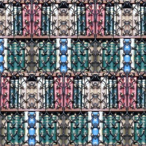Wrought Iron Library | Photorealistic Book Print fabric by lochnestfarm on Spoonflower - custom fabric