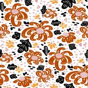 Cutout Fall Terracotta Mums V2