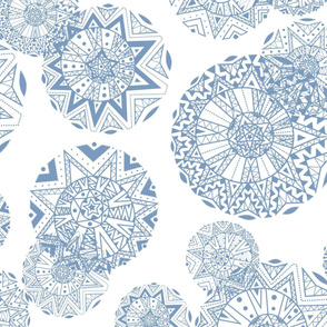 Shapes and Lines Jumbo Blue On White