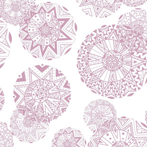 Shapes and Lines Jumbo Pink On White