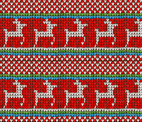 Reindeer Christmas Knitted Sweater fabric by fabric_is_my_name on Spoonflower - custom fabric