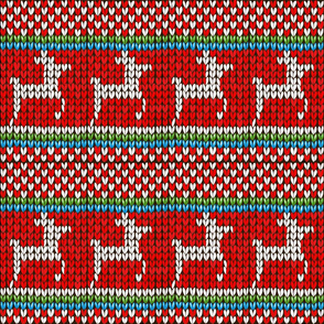Reindeer Christmas Knitted Sweater