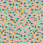 Mini Mosaic_pink-green mix