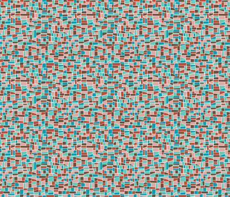 Mini Mosaic_warm fabric by elizabethhalpern on Spoonflower - custom fabric