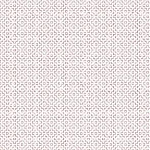 Persimmon Hitomezashi Sashiko Red on White