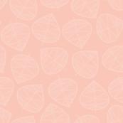 Geometric Leaves Pink White