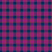 Gingham Check in Magenta Majesty