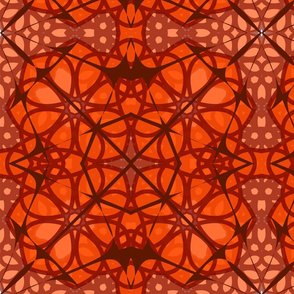 Halloween Orange Spider Webs