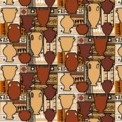 Clay pots terracotta pattern