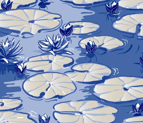 du Jardin de Monet fabric by southwind on Spoonflower - custom fabric