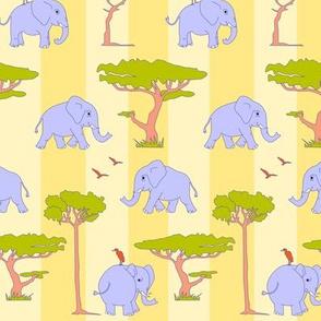 elephants in the savanna - variant B