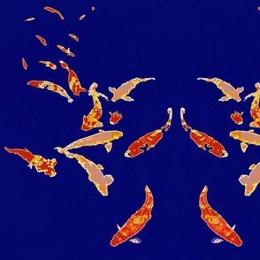 Koi in Deep Blue (larger)