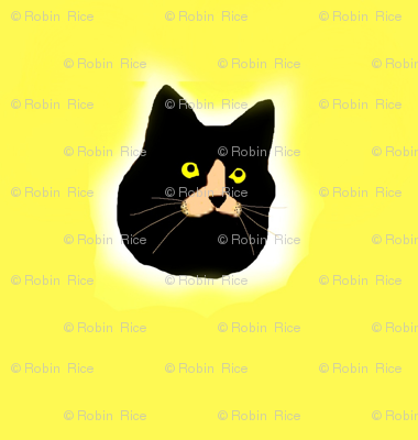 Black Cat Polka Dots (larger)