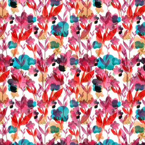 Watercolor paper cut out flowers