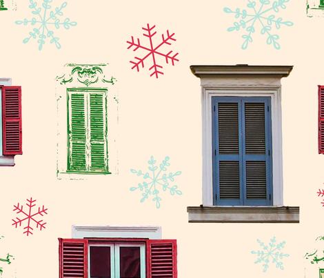ChristmasWindows fabric by tiffanie_lloyd_designs on Spoonflower - custom fabric