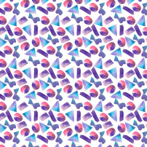 Paper cut out abstract geometric pattern