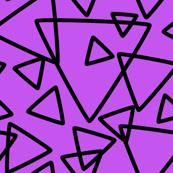 jumbo black purple triangles