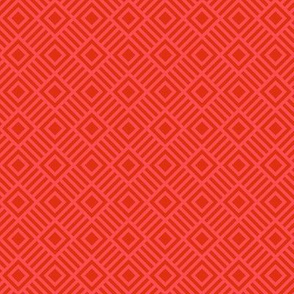 Geometric Square Red Shades Tonal Small