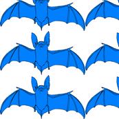 Halloween flying blue  bats