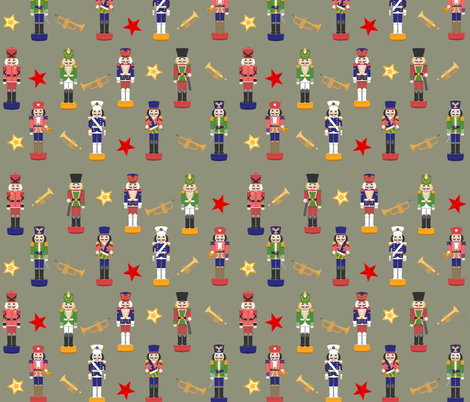Musical Christmas Nutcrackers  fabric by evault on Spoonflower - custom fabric