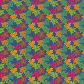 Small Maple Leaves in Jewel Tones