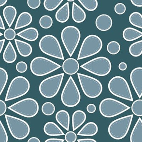 Mid-Century Winter Flowers