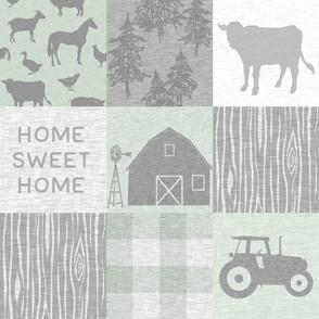 Home Sweet Home Farm Quilt - green