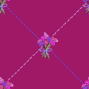 Lattice Bouquet_Plum