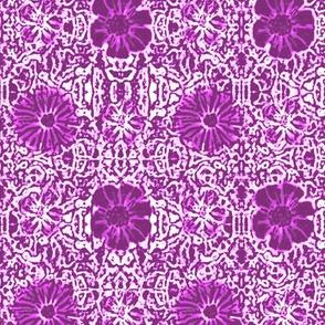 Burgundy Lace Batik
