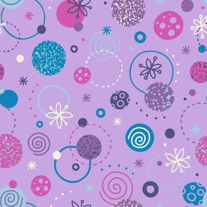 Galaxy Abstract in Purple, Pink & Blue