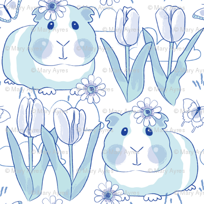 chinoiserie spring guinea-pigs-with-tulips