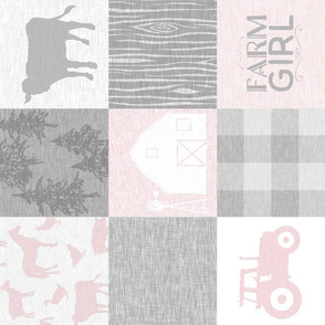 Farm Girl Quilt - pink and grey