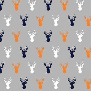Tiny Deer - orange, navy, white on