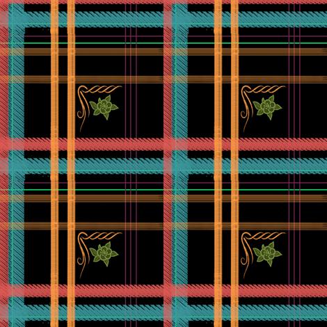 Kathryn's Plaid | Backlit Brights fabric by lochnestfarm on Spoonflower - custom fabric