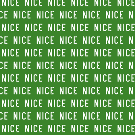 "(1/2"" scale) nice - green C18BS fabric by littlearrowdesign on Spoonflower - custom fabric"