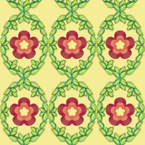 Royal Quilling Flowers on lemon verbena
