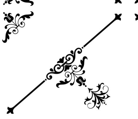 Black White Wallpaper fabric by bonsjeans on Spoonflower - custom fabric
