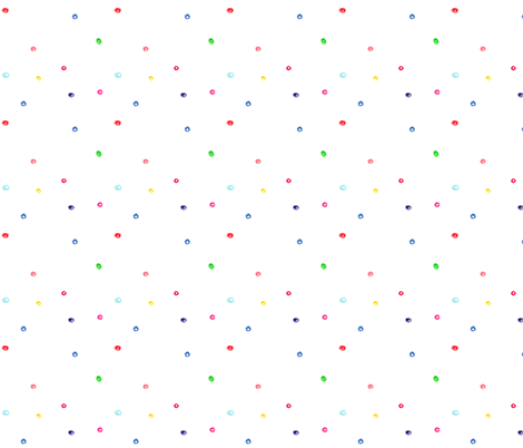 Scattered watercolor polka dot pattern || hand drawn for nursery, kids fabric by katerinaizotova on Spoonflower - custom fabric